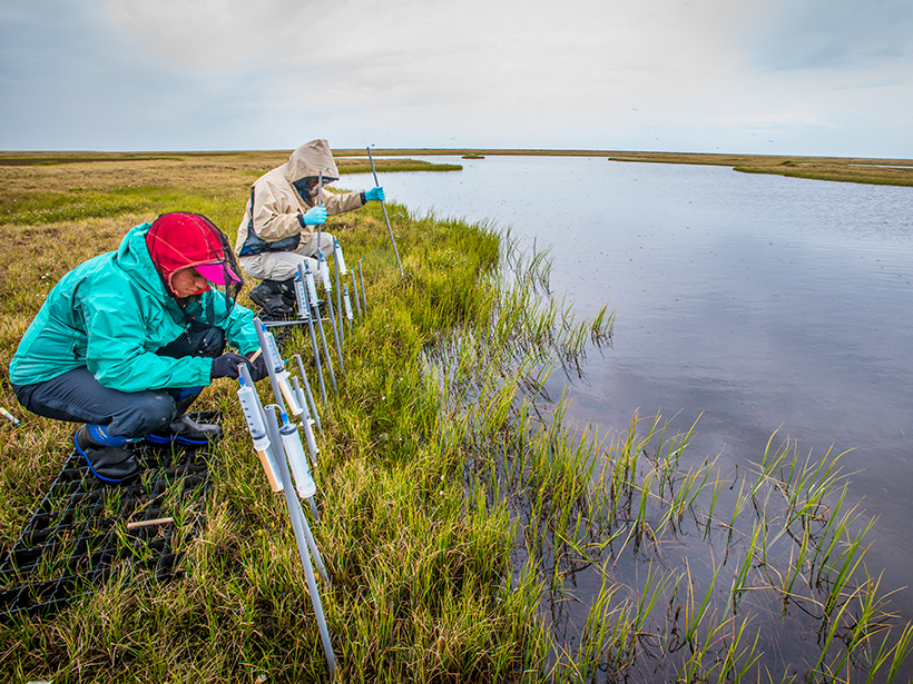 Scientists from U.S. DOE laboratories conduct research at the Barrow Environmental Observatory, north of the Arctic Circle.