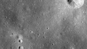 The Apollo 14 landing site in Fra Mauro showing the astronaut's trail of exploration