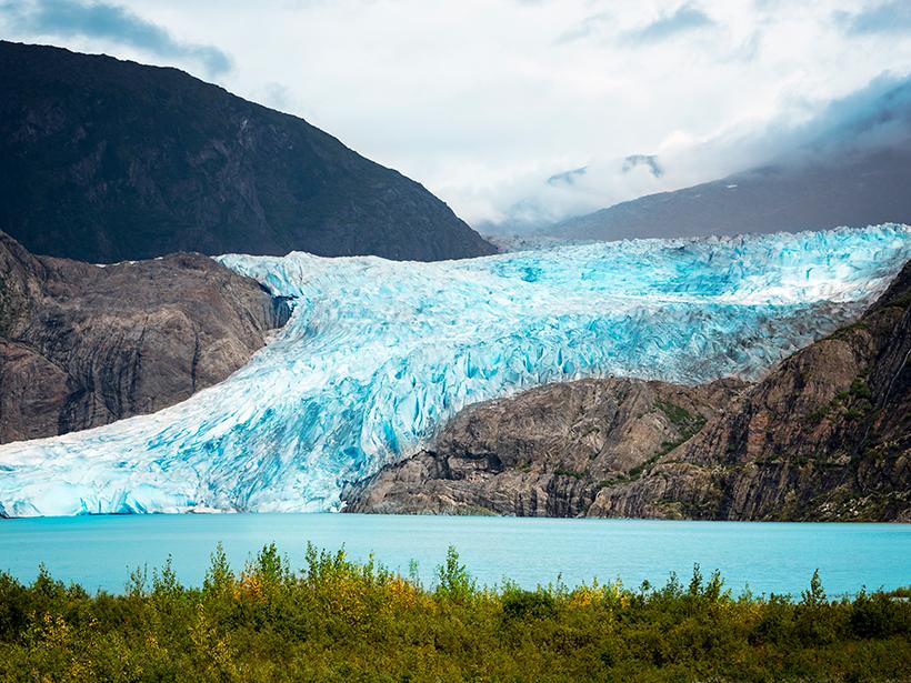 Mendenhall Glacier in Alaska