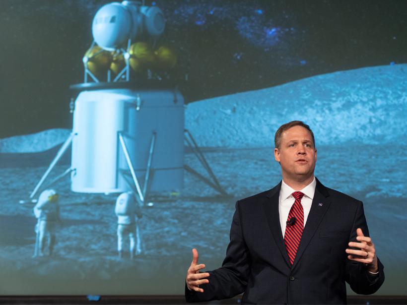 NASA administrator Jim Bridenstine lunar exploration