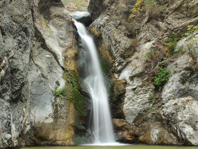 Eaton Canyon Falls in California's San Gabriel Mountains