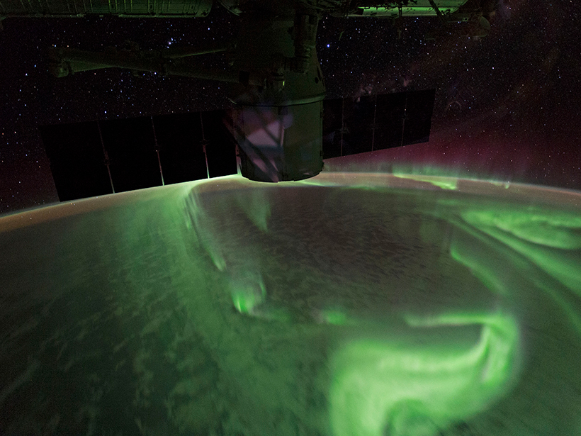 Auroras seen from the International Space Station
