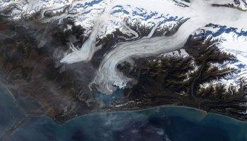 Satellite image of a glacier