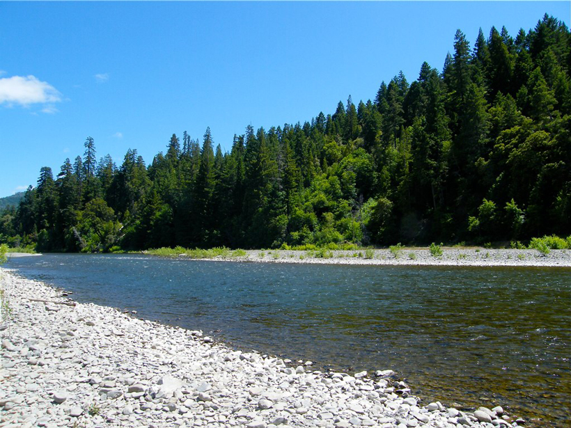 The south fork of the Eel River in California