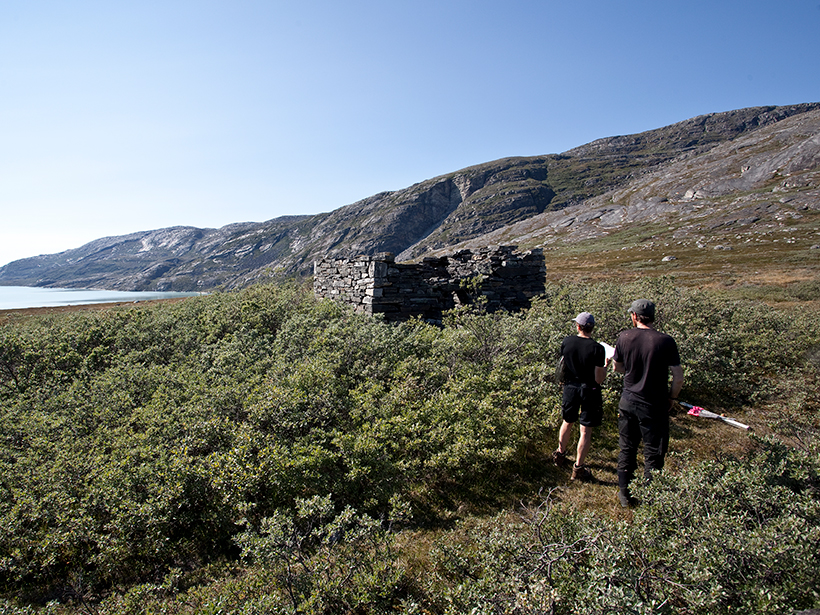 Photograph of an ancient Norse archeological site, called Anavik, in western Greenland