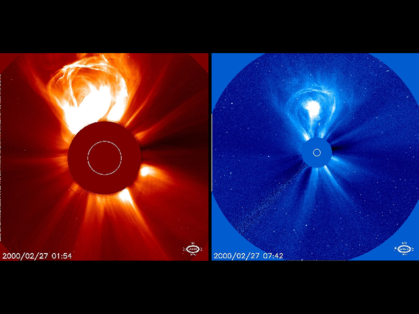 A coronal mass ejection (CME) on 27 February 2000