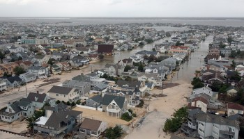 The Queens, N.Y., neighborhood of Rockaway Beach was heavily damaged by flooding exacerbated by extreme storm surges during Hurricane Sandy in October 2012.