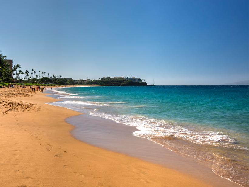 People on a beautiful Hawaiian beach