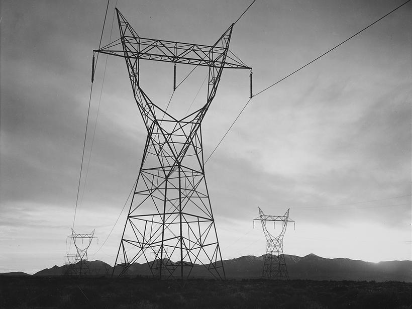Transmission lines in the Mojave Desert