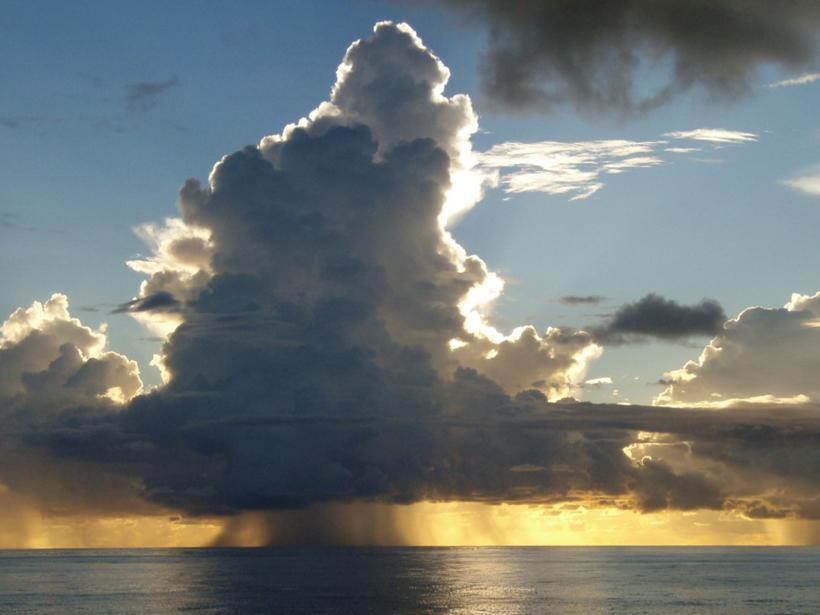 Photograph of storm cloud over Indian Ocean