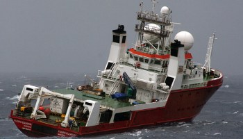 The M/V Fugro Equator searches the seafloor for MH370