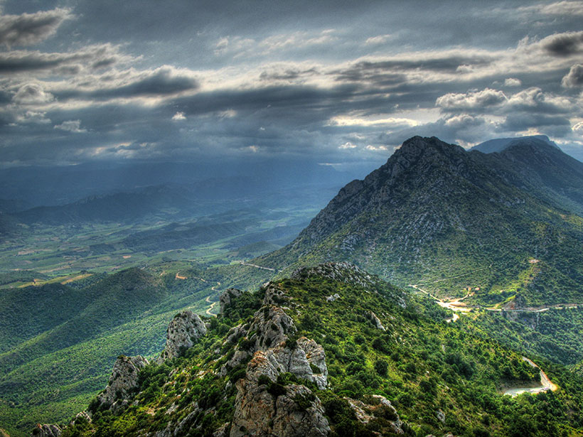 A cloudy mountain scene in southern France
