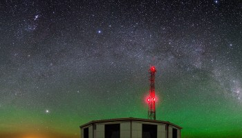 Argentina's Pierre Auger Observatory at night