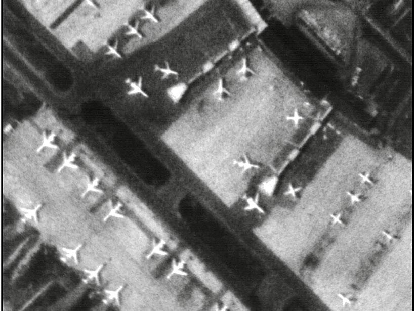 Satellite image of Soviet airport in 1979