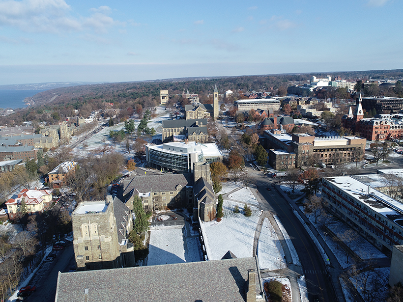 The buildings on Cornell University's central campus all require heat during the cold winters in Ithaca, N.Y.
