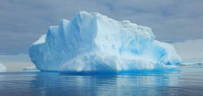 Photograph of an iceberg near Vincennes Bay, East Antarctica