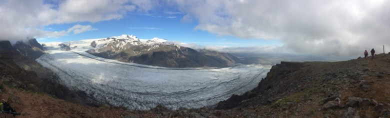 Panoramic photo of one of Vatnajokull's outlet glaciers