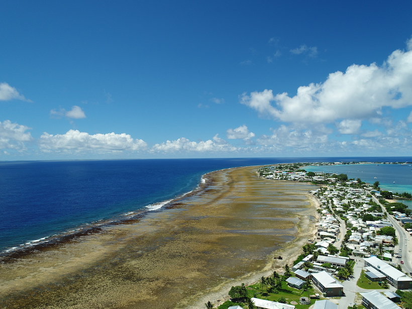 Image of the urban center of Majuro in the Marshall Islands.