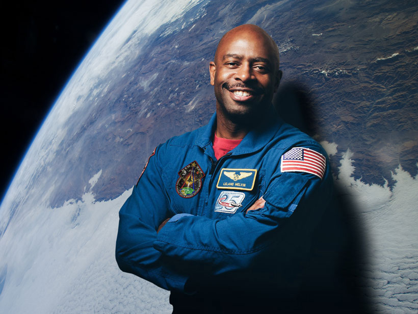 A portrait of Leland Melvin, NASA astronaut and former NFL wide receiver