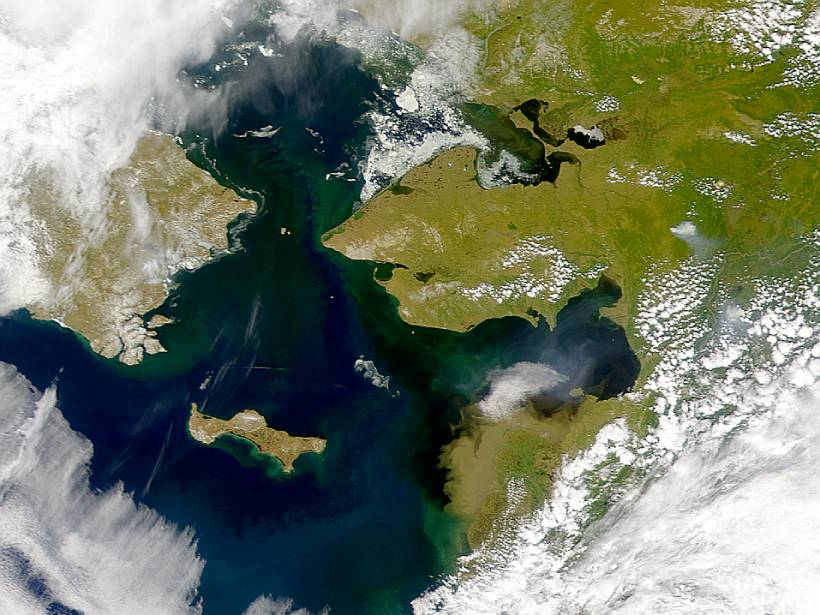 Satellite image of the Bering Strait