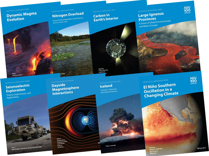 Covers of new AGU books