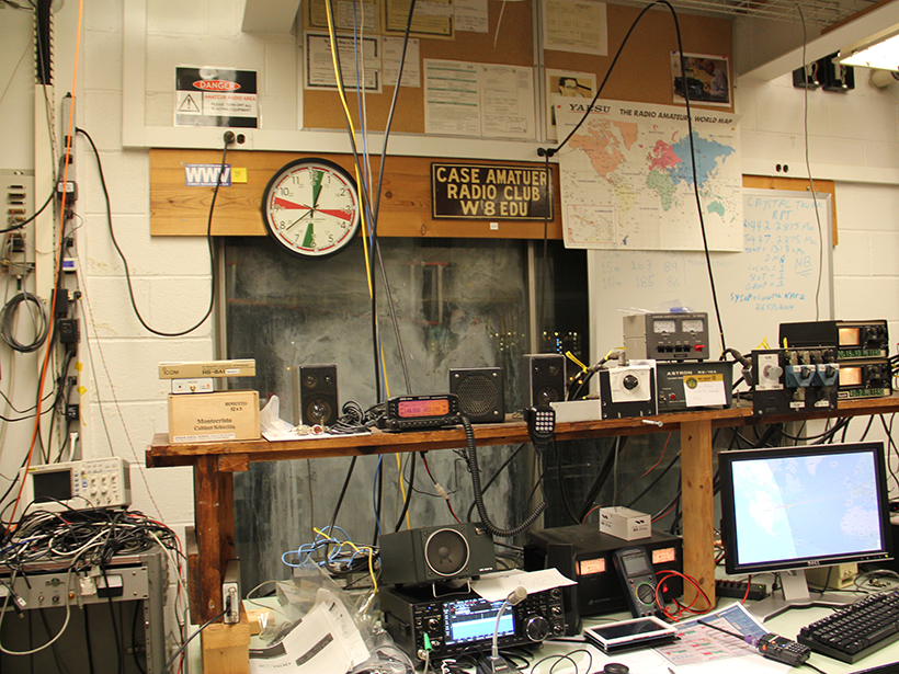 Equipment belonging to the Case Western Reserve University amateur radio club