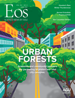 Cover of the June 2021 issue of Eos