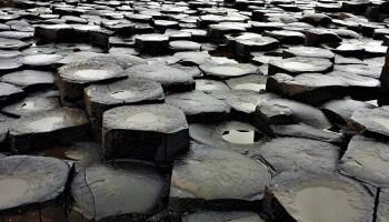 Basalt columns at Giant's Causeway in Northern Ireland