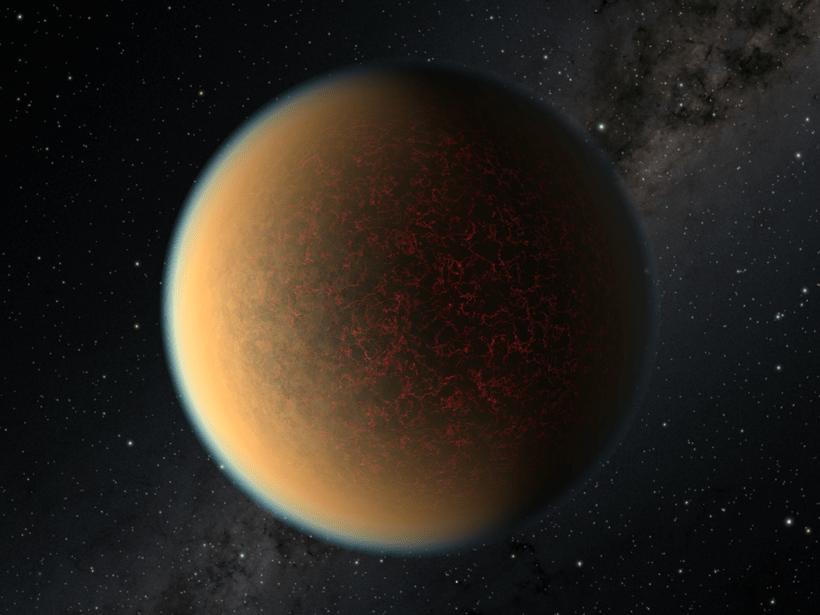 An artist's rendering of exoplanet GJ 1132 b