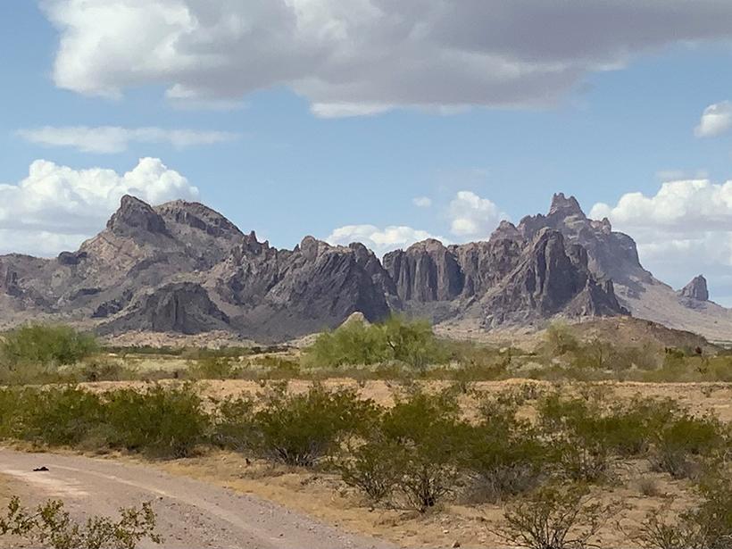 The Eagletail Mountains in southwestern Arizona