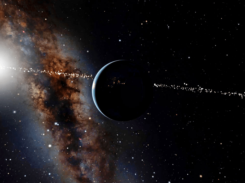 Earth with stars in the background.