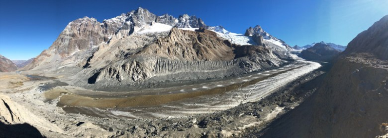 A panoramic view of Universidad Glacier in central Chile