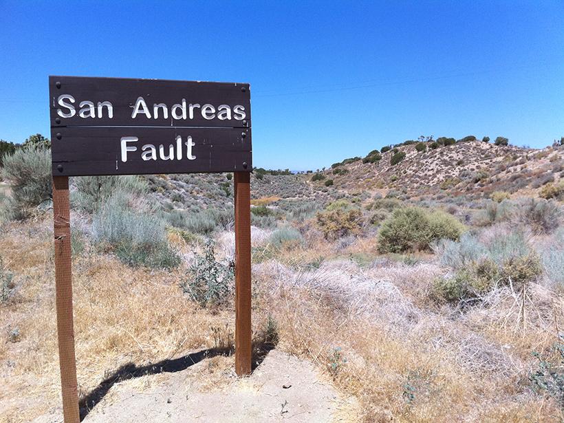 The San Andreas Fault near Juniper Hills, Calif.