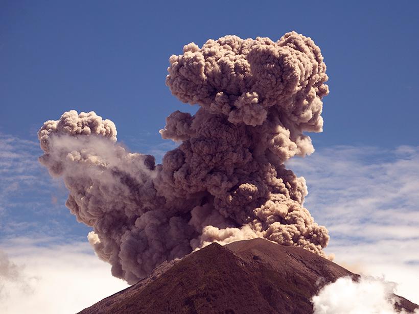 A photo of Agung volcano