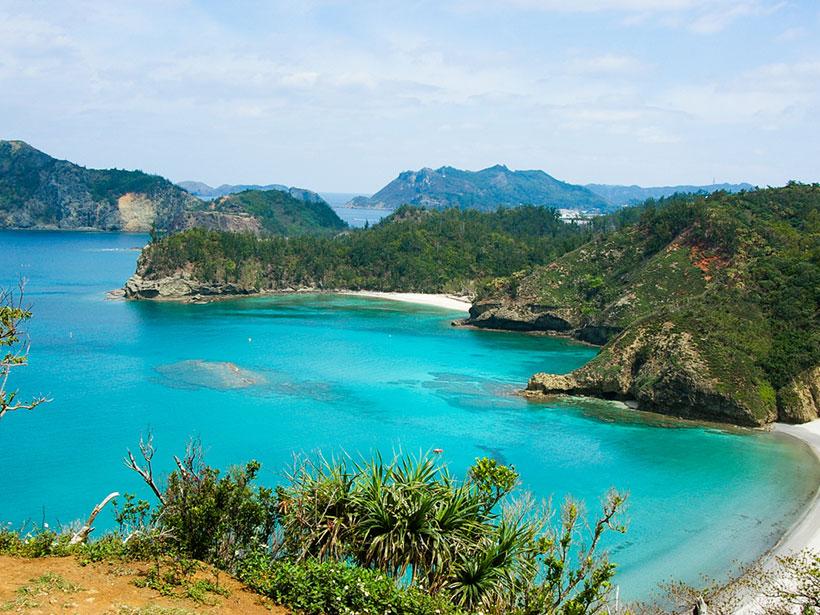 Kominato Beach and Kopepe Beach, part of the Ogasawara Islands located in Japan