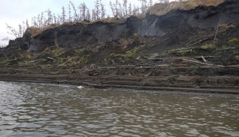 The Duvannyi Yar thaw site on the Kolyma River in Siberia