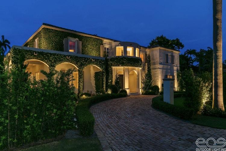 residential exterior landscape lighting