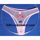 Women's Rose Sheer Thongs 3 Pack Small Clearance