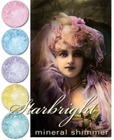 "25% OFF Weekly Sale through 11:59 PM PST 1/8!~ Gothic Lolita ""Starbright"" Mineral Shimmer- 7 whimsical, sparkling shades"