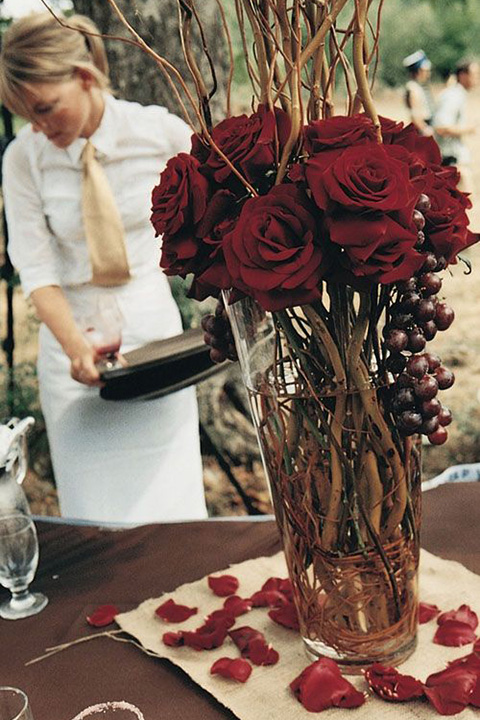 Holiday Gold Hurricane Centerpieces