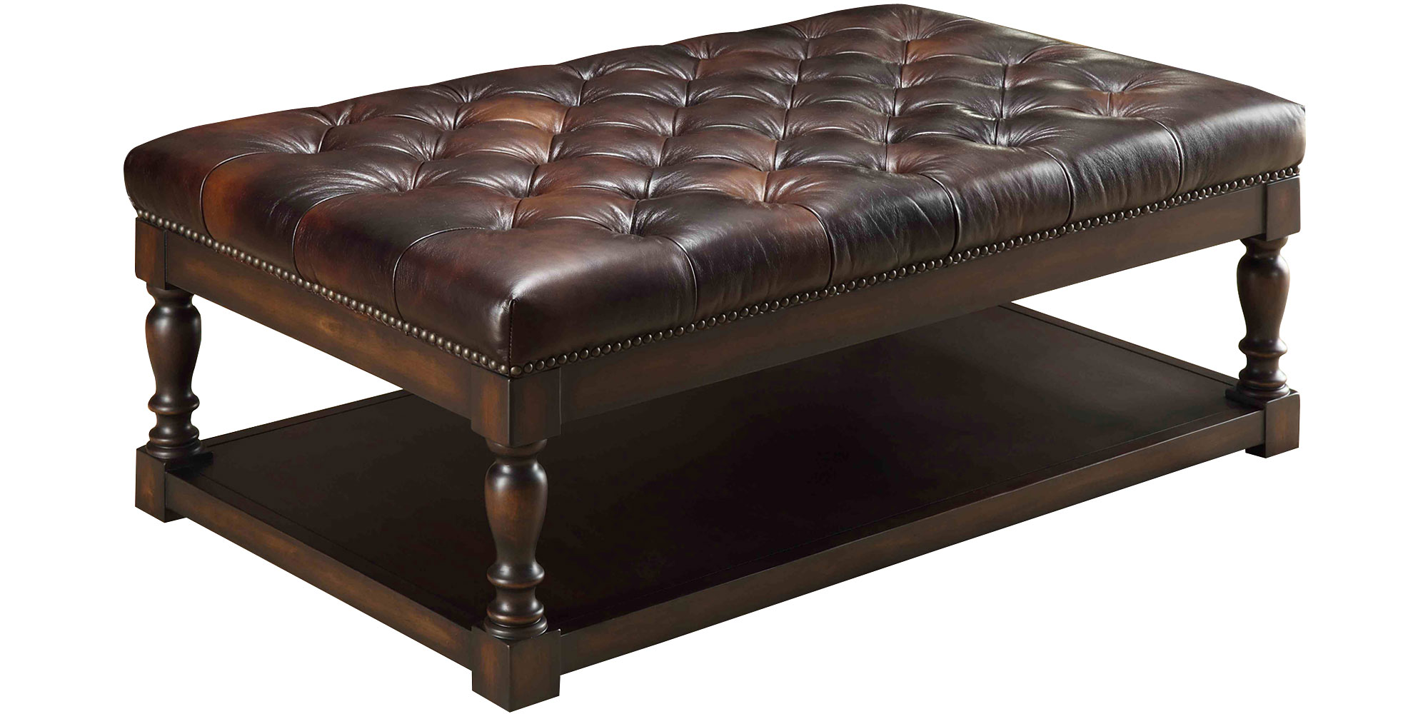 Leather Ottoman Coffee Table Small