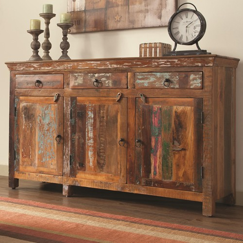 Reclaimed Wood Accent Cabinet Living Room Hole Way Cabinet