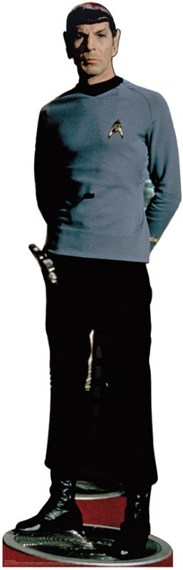 Image result for cardboard cutout star trek