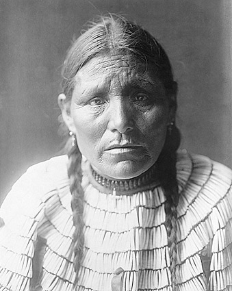 Dakota Indian Edward S Curtis Portrait Photo Print For Sale