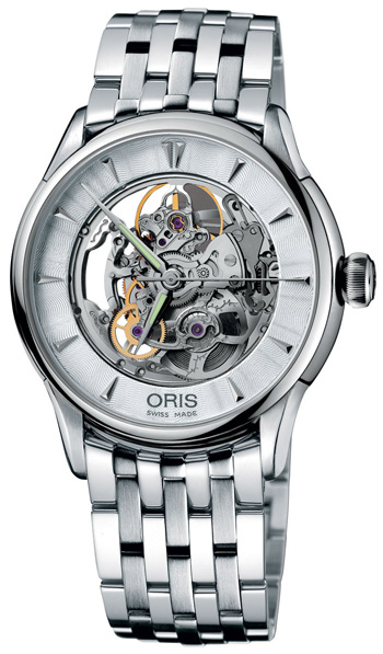 73475914051MB Oris Artelier Skeleton Automatic Open Dial Watch