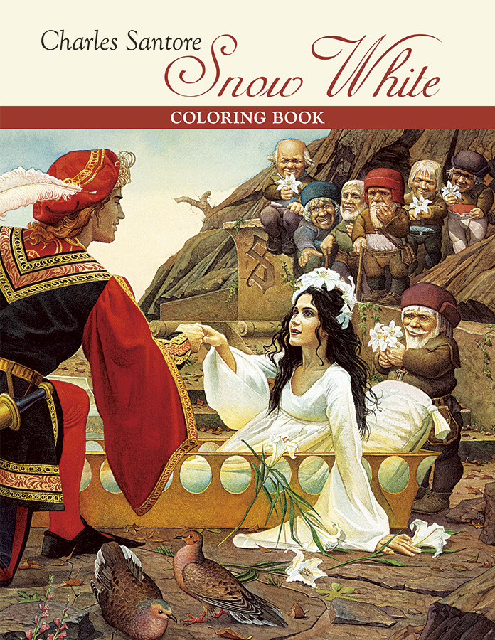 Charles Santore Snow White Coloring Book