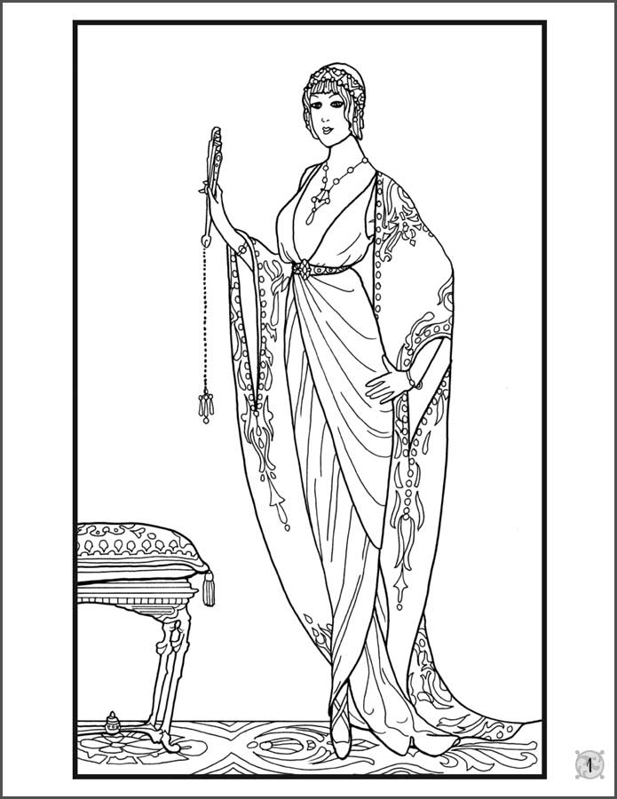 Floor Length Dress Coloring Pages