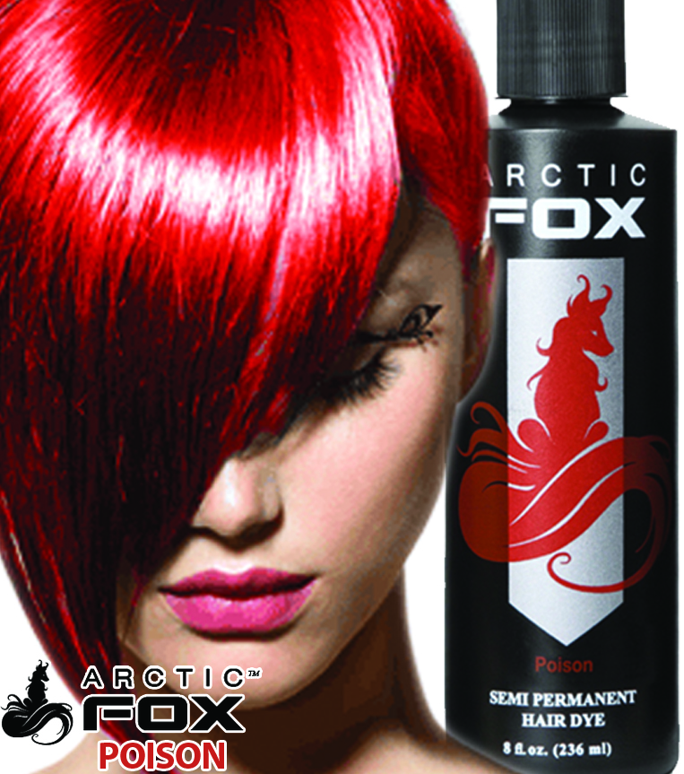 Arctic Fox Semi Permanent Hair Dye 8 Ounce Poison 8