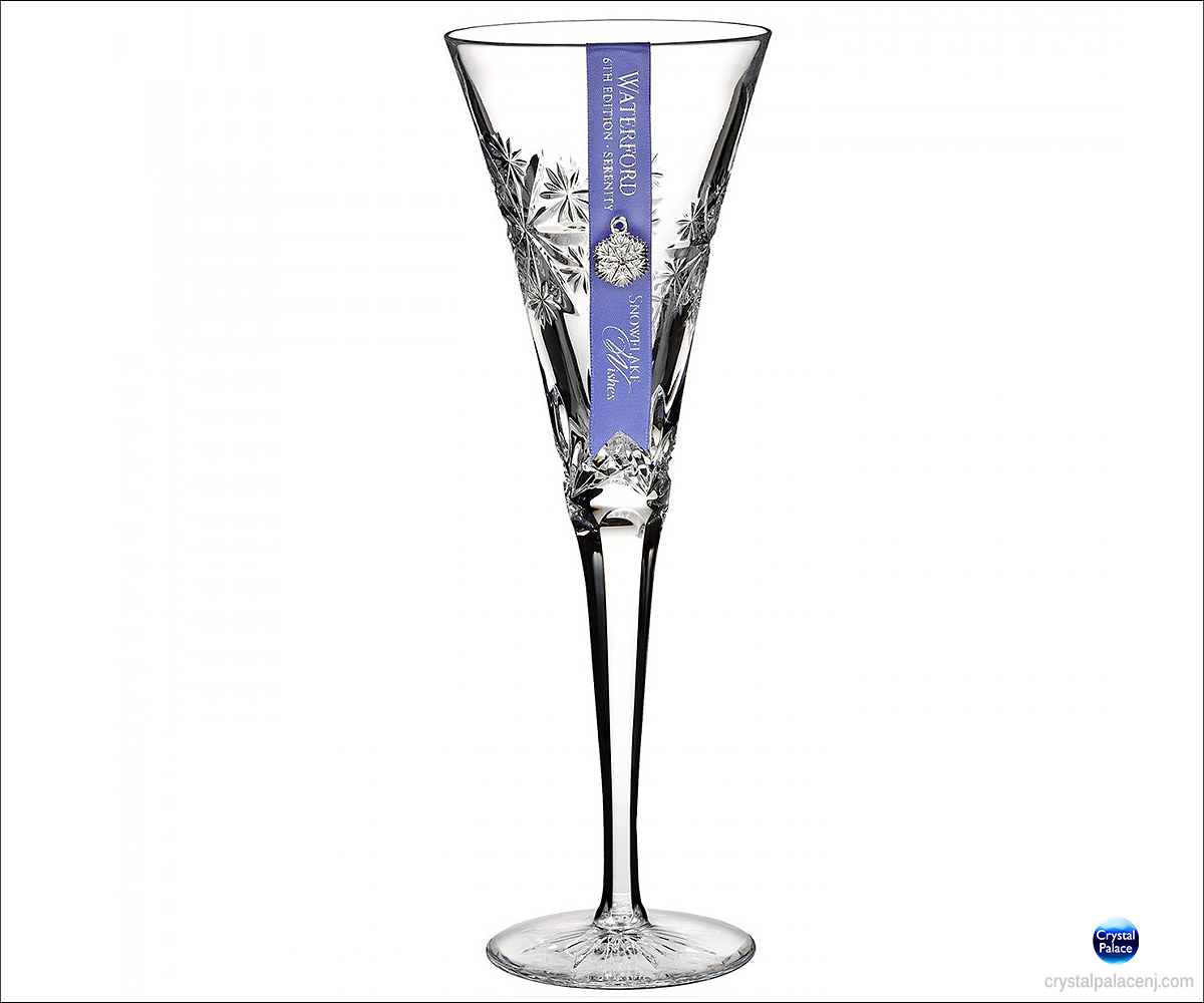 Waterford Snowflake Wishes Serenity Flute Clear
