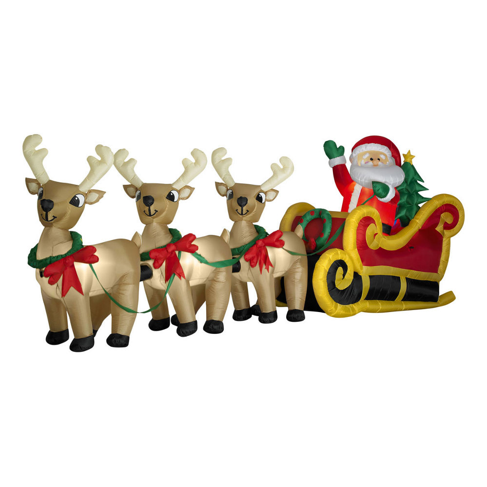 Walmart christmas decorations inflatables for Home decorations walmart